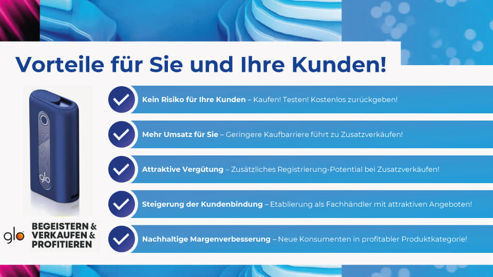 glo Zufriedenheitsgarantie: Die Vorteile