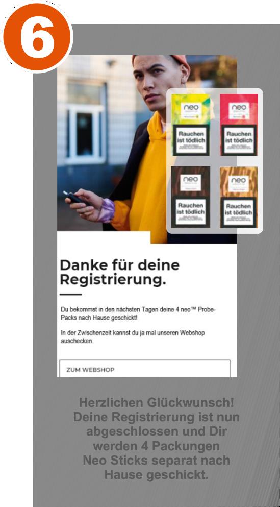 Schritt 6 der myglo Registrierung